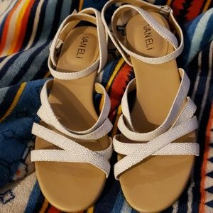 Vaneli Marmi Leather Sandals
